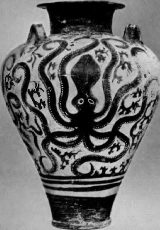 Amphora with an image of an octopus