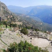 Ancient Greek city of Delphi