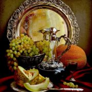 Awesome still life with melon by Elena Tatulyan