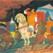 Battle of Ilya Muromets. Artist V. Fokeev
