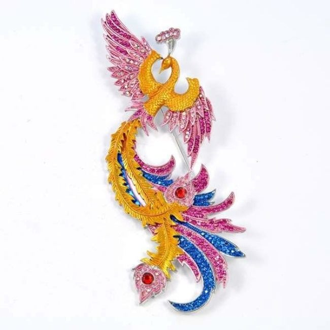 Beautiful Brooch Firebird