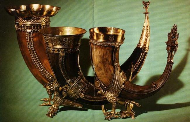 Beautiful drinking horns