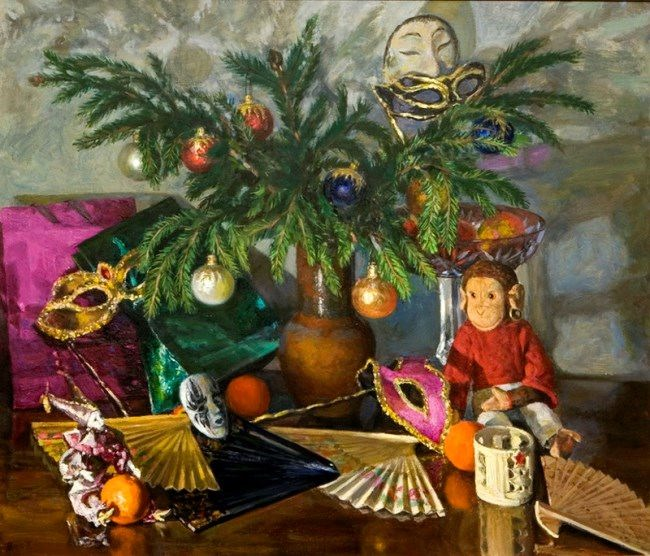 Bessonova Tamara Vladimirovna, New Year, 1955