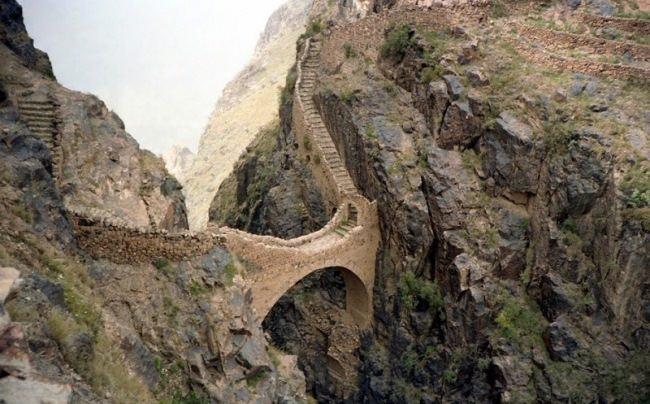 Bridge in Shahar, Yemen