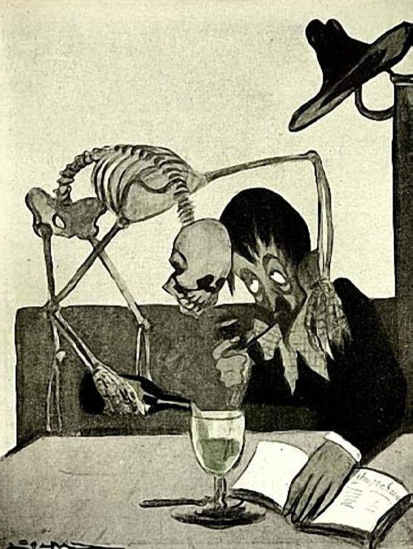 Cartoon L'Absinthe