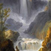 Claude Louis Chatelet. View Of The Cascade Del Marmore Near Terni