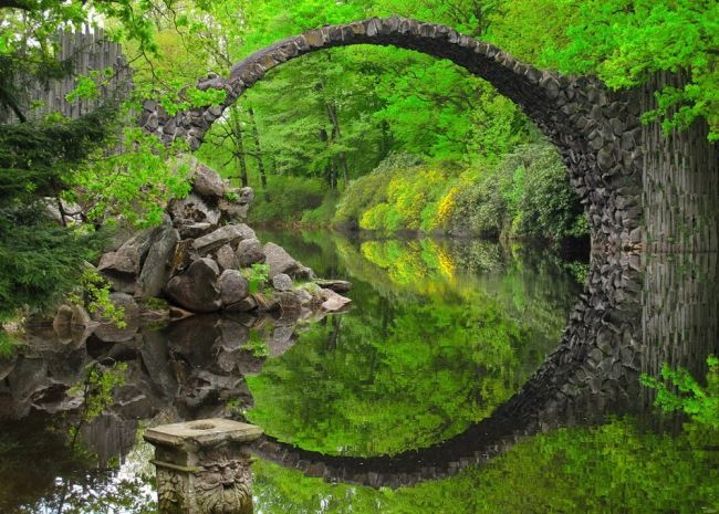 Devil's Bridge in the Kromlau Park, Germany