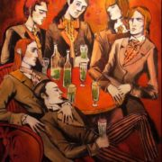 Ducasse. Absinthe Drinkers.