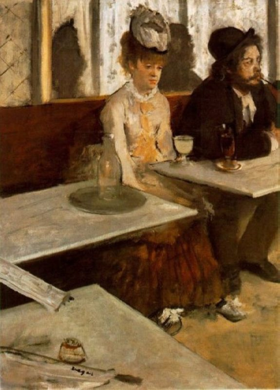 Edgar Degas. In the cafe. Absinthe, 1876