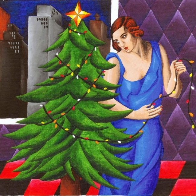 Eric Gibbons. Christmas Tree (Style of Tamara de Lempicka).