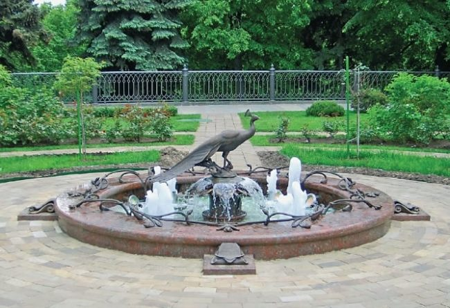 Fountain Bird of Happiness in Moscow, Russia