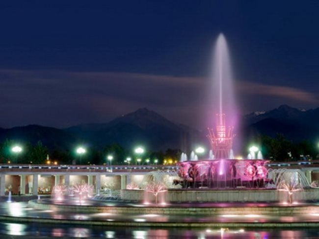 Fountain in Almaty