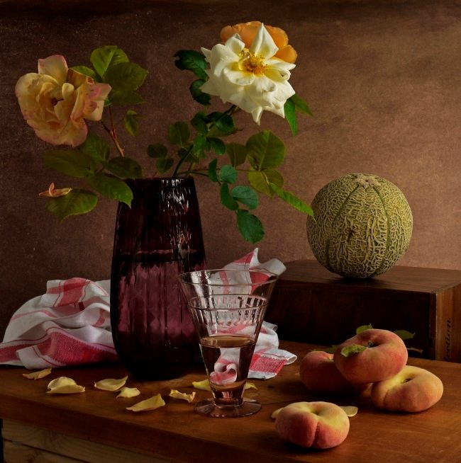 Great still life with melon