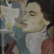 Greta Gerell. Pariscafe. 1950