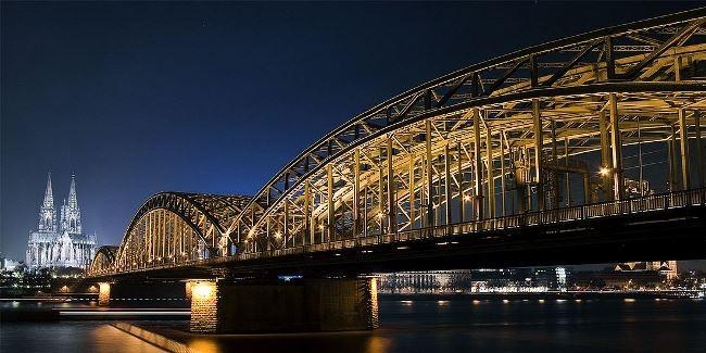 Hohenzollern Bridge in Cologne, Germany