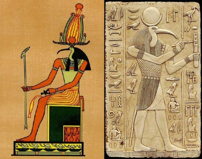 Horns, according to legend, adorned the ancestor of the ancient Egyptian civilization, Thoth