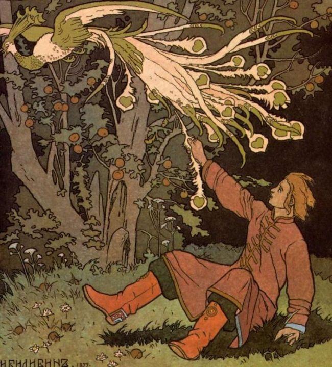 I. Bilibin. Ivan Tsarevich and Firebird