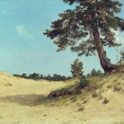 I. Shishkin. Pine in the sand