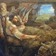 Ilya Muromets and his parents by Andrey Klimenko