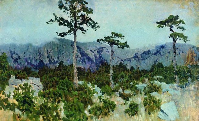 Isaak Ilich Levitan. Three pines. 1886