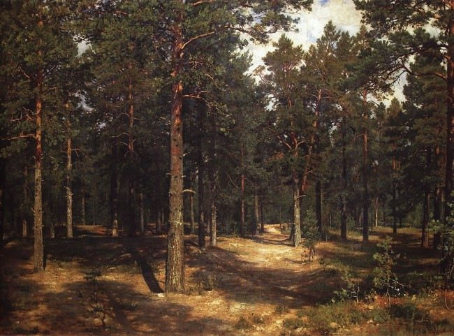Ivan Ivanovich Shishkin. Path among the pines. 1883