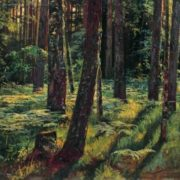 Ivan Shishkin. Ferns in the forest. Siverskaya