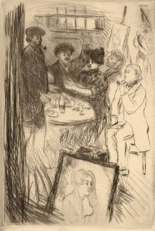 Jean-Francois Rafaelli. Les Rapins. 1887