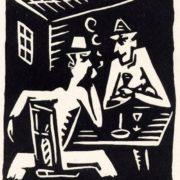 Josef Capek. Absinthe Drinkers