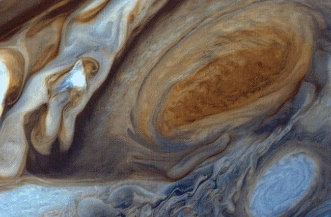 Jupiter and its famous great red spot