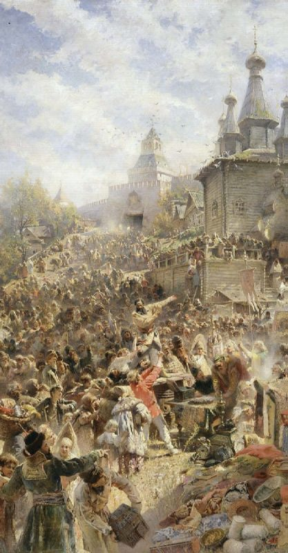 K.E. Makovsky. Minin on the square of Nizhny Novgorod, 1890's