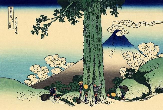 Kotsushika Hokusai. Mishimauga Pass in Koshu Province