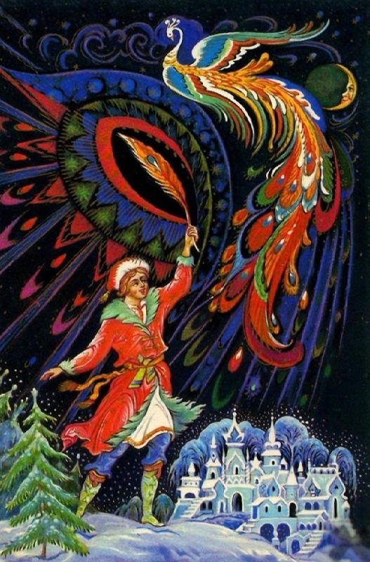 Lacquer miniature Ivan Tsarevich and Firebird