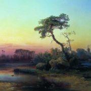 Landscape with a pine. Alexey Kondratievich Savrasov. 1854