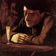 Laszlo Mednyanszky. Absinth Drinker. 1898