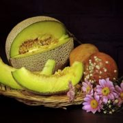 Magnificent still life with melon