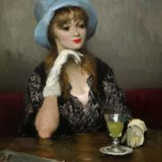 Marsel Dyf. Jacqueline in a blue hat. 1967