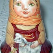 Matryoshka with a goat by Tregubova Svetlana