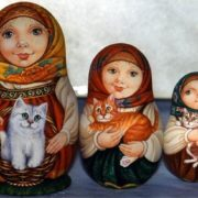 Matryoshkas with cats by Tregubova Svetlana
