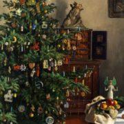 Max Rimbock. Christmas Interior. 1957