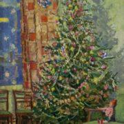 Mazanov Leonty Nikiforovich. The New Year Tree. 1960