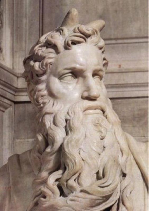 Michelangelo Buonarroti. Moses, detail