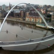 Millennium Bridge in Gateshead, England