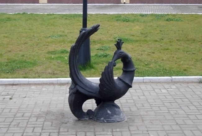 Monument Firebird in Nefteyugansk, Russia