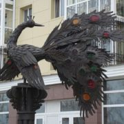 Monument to Firebird in Tobolsk