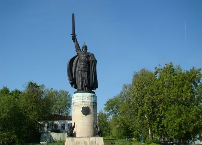 Monument to Ilya Muromets in Murom