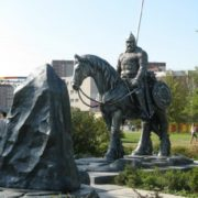 Monument to Ilya Muromets in Yekaterinburg, Russia