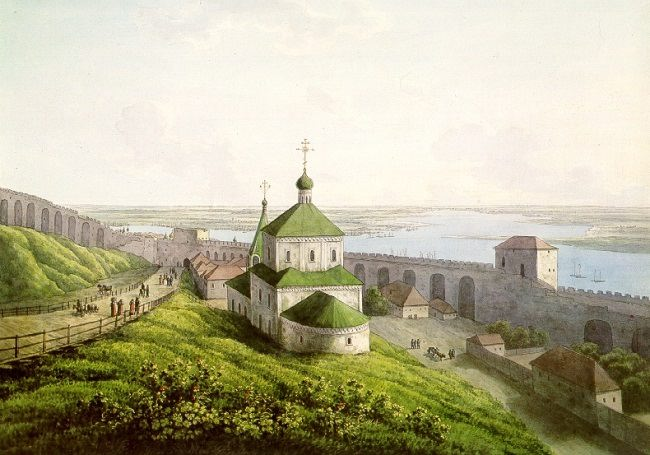 Nizhny Novgorod in 1806 by Martynov