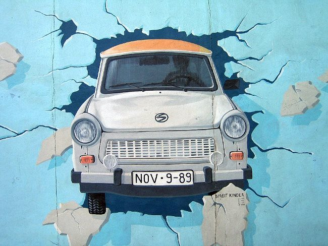 One symbolic graffiti of the Berlin Wall