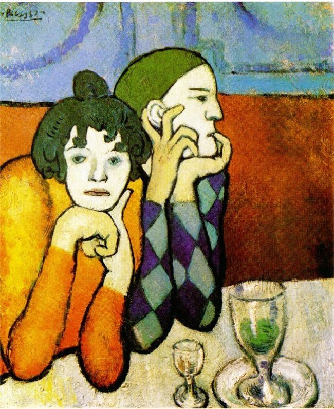 Pablo Picasso. Arlequin et sa compagne