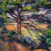 Paul Cezanne. Large pine and red fields